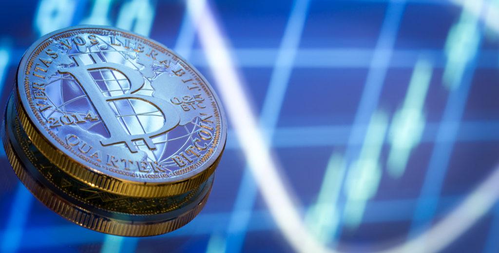 bitcoin illustrant une cryptomonnaie